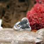 Brillant - Ring in Gürtelschnallen Optik