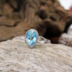 Brillant - Topas - Ring Gr.54 750er WG