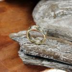 Brillant Ring Platin/ Gelbgold