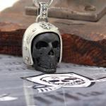 "JJJ LA Schlüsselanhänger ""Biker Skull"" aus 925er Silber"