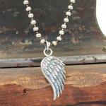 """JJJ LA Halskette """"Angels Wing"""" groß 925er Silber"""
