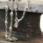 """JJJ LA Halskette """"Skulls"""" 925er Silber 600 mm"""