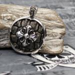 """JJJ LA """"Dragoncross"""" Amulett aus 925er Silber"""