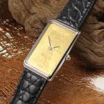 Corum 15 Gr. Goldbarrenuhr 750 / 18 kt Weißgold/Gelbgold (999,9 / 24 kt)
