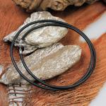 Auroris Lederband 70 cm mit Karabinerverschluß aus 925er