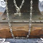 """JJJ LA Halskette """"Skulls"""" aus 925er Silber 60 cm"""