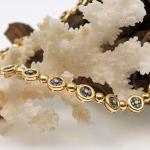 Creation Wenz - Handarbeit Saphir - Diamant Collier 750er GG