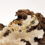 Creation Wenz - Handarbeit Saphir - Diamant Armband 750er GG