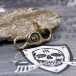 """JJJ LA Schlüssel Karabiner """"Gold Skull"""""""