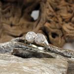 Weißgold Diamant Ring im Art Deco Stil 585er