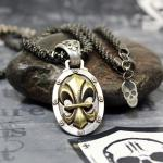 "JJJ LA  Collier ""Bronze Gold Fleur de Lys"" 925er Silber mit Bronze Gold polished"