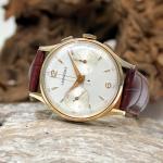 Leonidas Handaufzug Chronograph 585er GG