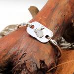 Gazpocho Handcrafted Silver 925er Bracelet/ Rabbit