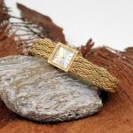 Rolex Precision Damenarmbanduhr 750er Gelbgold