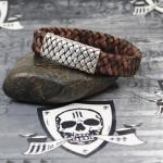 "JJJ LA braunes Lederarmband ""brown silver"" mit 925er Silberschließe in Lederbandoptik"