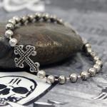 """JJJ LA Kugelarmband 925er Silber """"CROSS"""" mit Kreuzmotiv"""