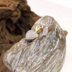 Brillant besetzter Herzanhänger aus 750er Gold