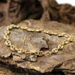 Massives 750er Gelbgold Armband im Erbsenmuster