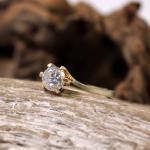 Solitär Diamant Brillant Ring 585er Gelbgold