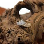 Bi Color Diamant Damen Ring 585er