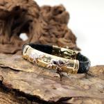 Kombiniertes Armband Gold 18Kt und Leder