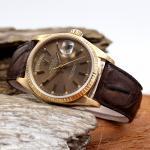 Rolex DayDate Gelbgold 18 kt mit Lederband