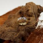 Diamantring 585 mit ca. 0,20 ct Diamanten besetzt