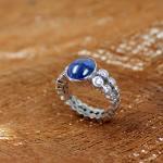 Weißgold Saphir Diamant Ring