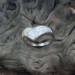 Diamant Gelbgold/Weißgold Ring