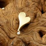 Herz-Brillant-AnhängerGelbgold 585