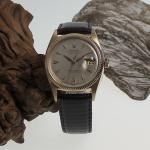 Rolex Date-Just Gold Ref.6605 mit Lederband und orig. Dornschließe