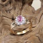 Turmalin Diamant Ring 585 Rose`Gold