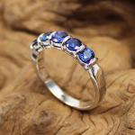 Saphir Ring in 750 Weißgold