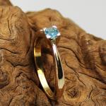 Aquamarin Ring 585