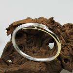 Armreifen Silber/Gold 925/750 mit einem Diamant