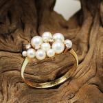 Perl-Diamant Ring 585 Gelbgold