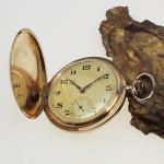Taschenuhr 3 Deckel Gold 585