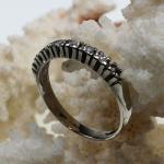 Halbmemoire Ring 585 Weißgold