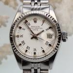 Rolex Date Stahl-Weißgold Damenuhr
