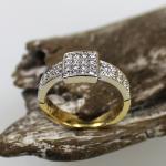 Brillant Ring 750 Gelb,-Weißgold