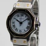 Cartier Santos Stahl/Gold  Automatik Damenuhr