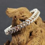 Massives 925 Sterling Silber Armband