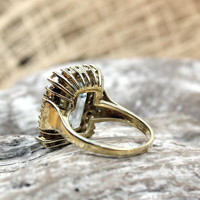 juweliere winter aquamarin ring mit brillanten 585er. Black Bedroom Furniture Sets. Home Design Ideas
